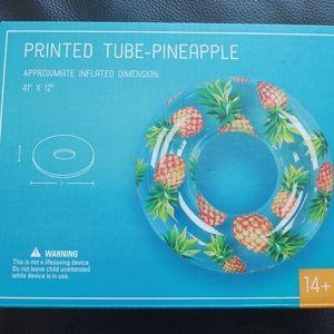 🆕 Printed Pineapple Pool Tube